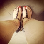 My new Zara studded sandals