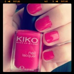 hot pink Kiko nailpolish