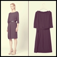 COS draped belted dress