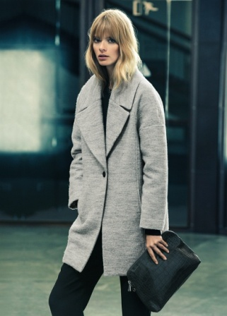 Mango wool boyfriend coat