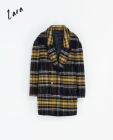 Zara checked coat - winter 2013