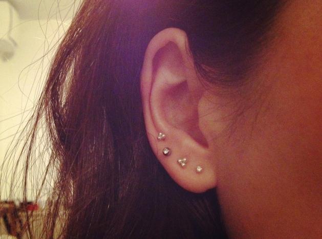 Mezereem ear studs